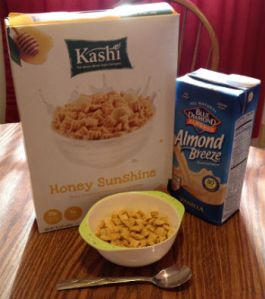 kashi cereal with blue diamond almond milk