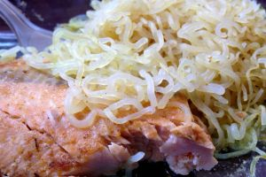Miracle Noodles with salmon